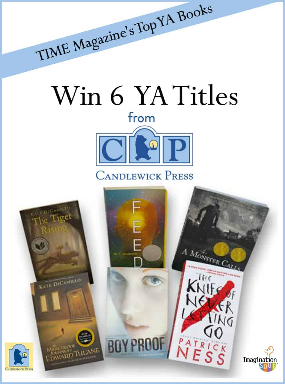 Candlewick has 6 YA books on the TIME magazine top 100 list - giveaway on Imagination Soup
