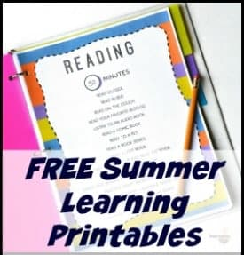 Free Summer Learning Printables