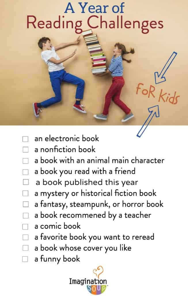a Year of Reading Challenges for kids