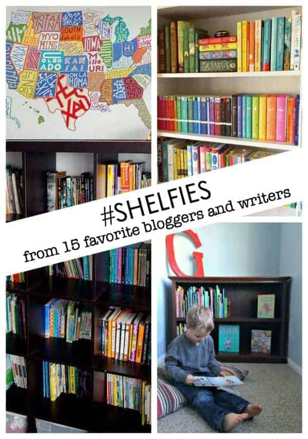 shelfies from 15 favorite bloggers and writers