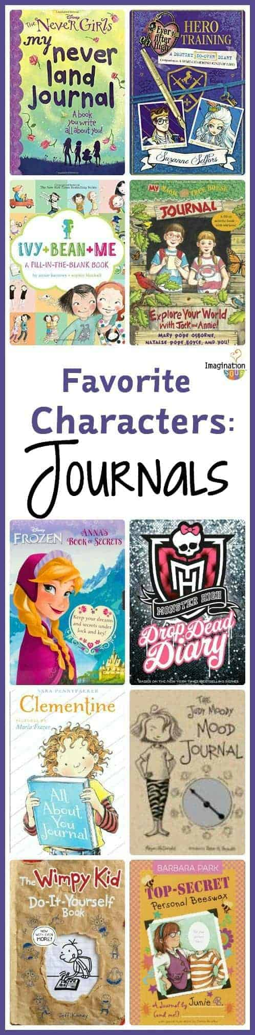 10 character journals to motivate kids to write