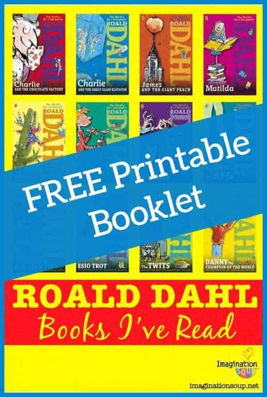 Free printable Roald Dahl book list booklet