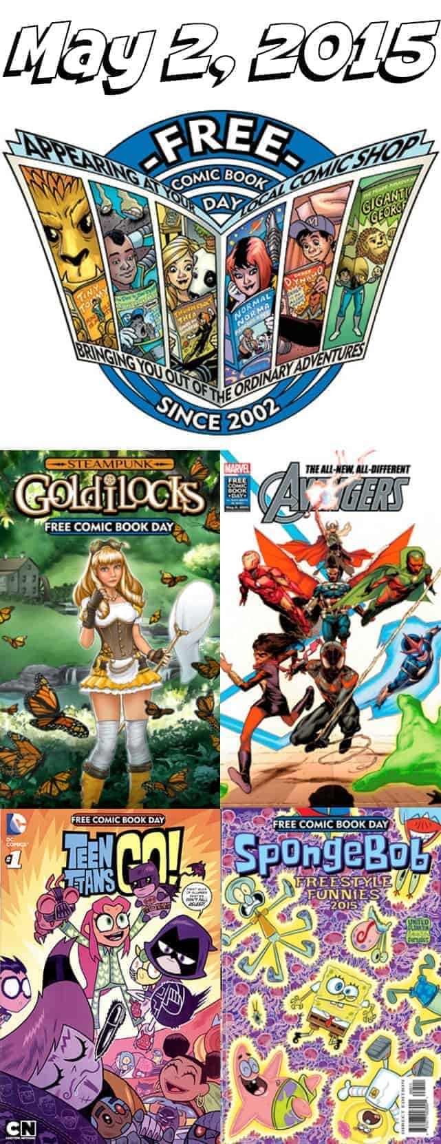 free comic book day on May 2, 2015 at participating comic book stores in the U.S.