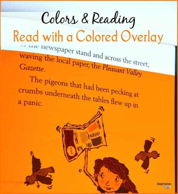 read with a colored overlay