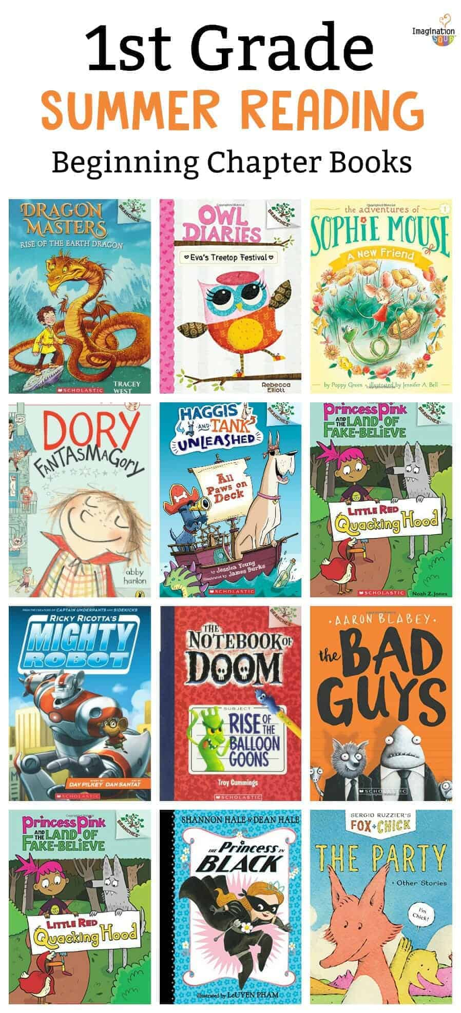 1st Grade Summer Reading List Of Books Imagination Soup