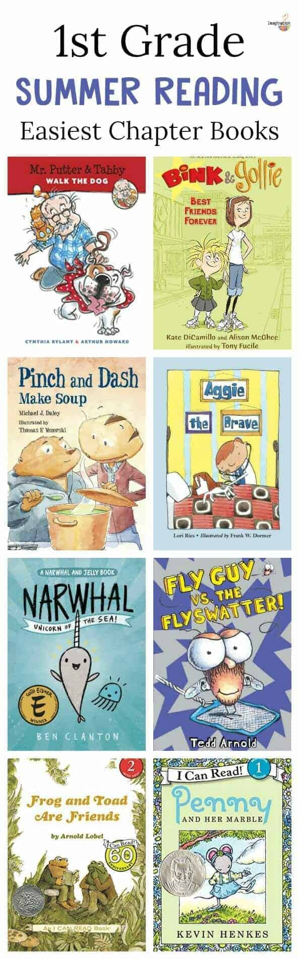 for kids going into 1st grade - a summer reading list of easiest chapter books