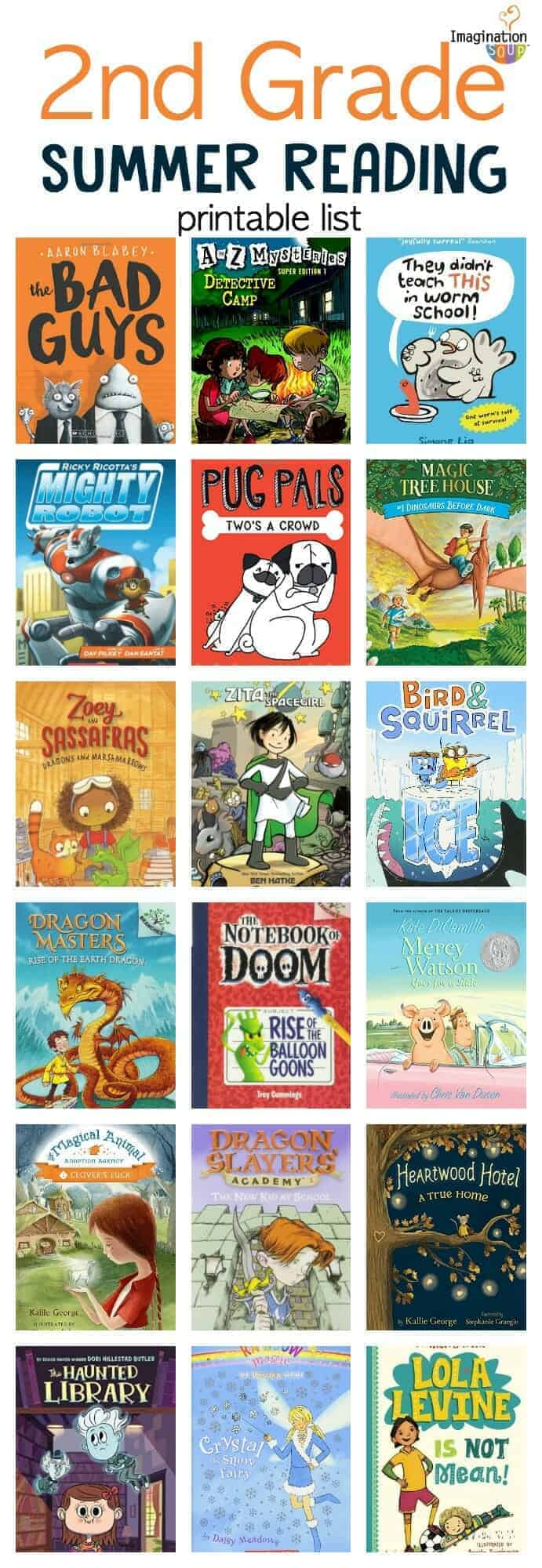 2nd grade summer reading book list for kids