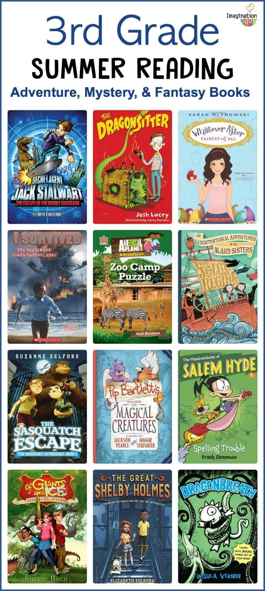 3rd Grade Summer Reading List (Ages 8 - 9) printable list