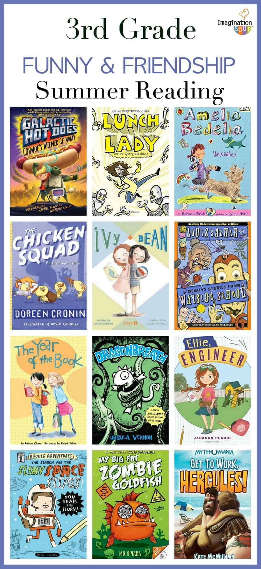 3rd grade summer reading list - funny and friendship books