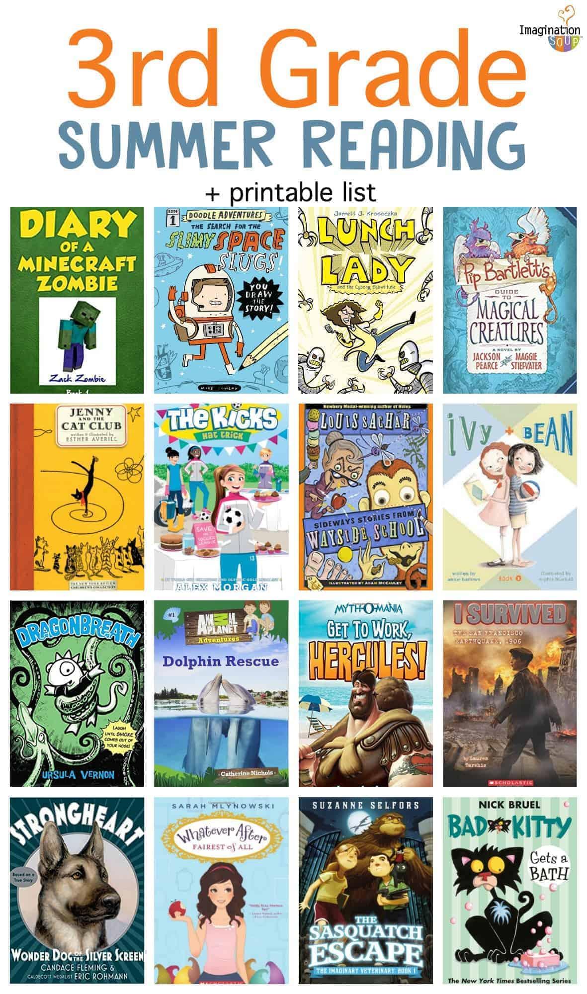 3rd grade summer reading list plus printable