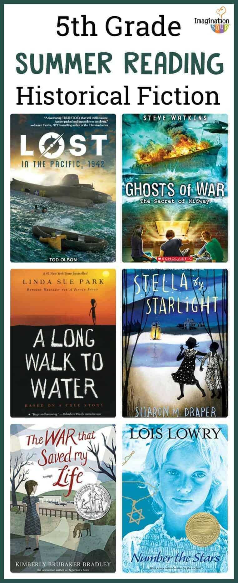 5th grade summer reading book list - historical fiction