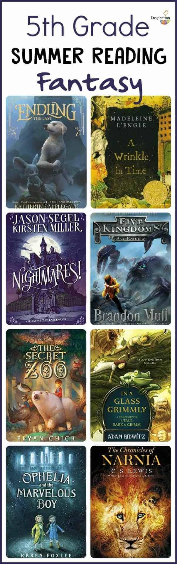 5th grade summer reading list - fantasy