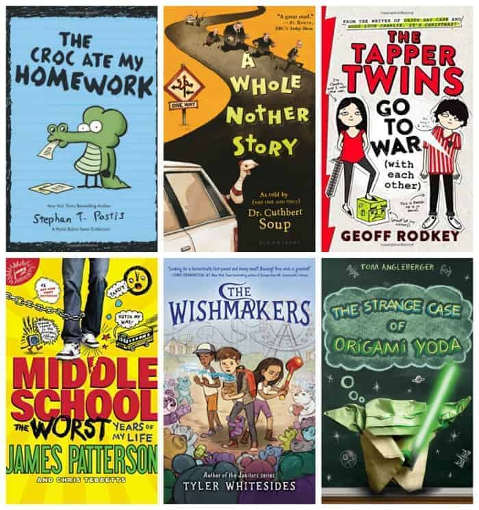 6th Grade Summer Reading List:FUNNY