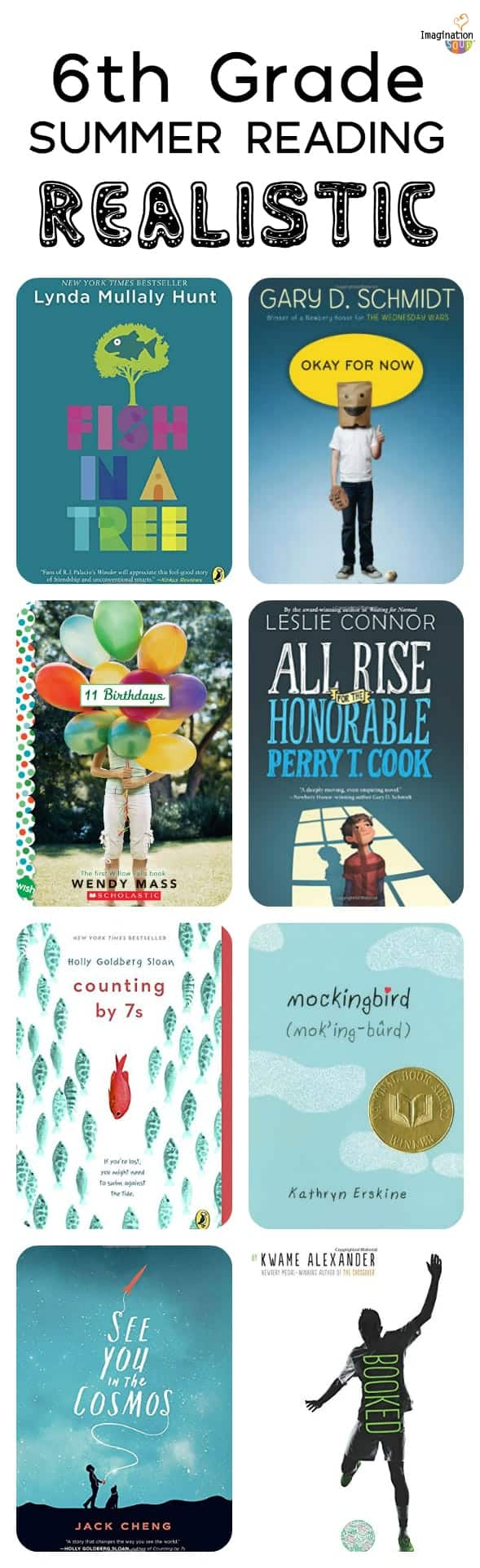 6th grade summer reading - realistic, funny, fantasy, and more (ages 11-12)