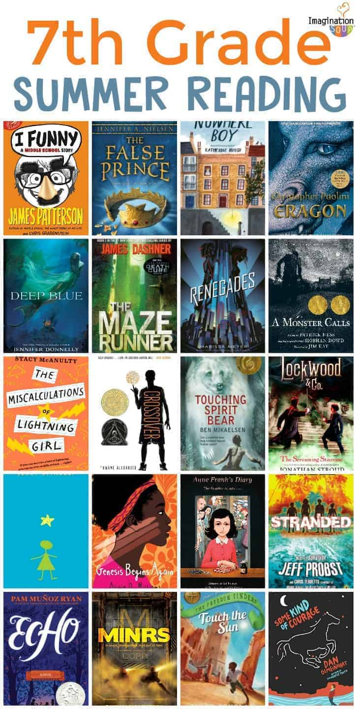 7th grade summer reading booklist (ages 12 - 13)