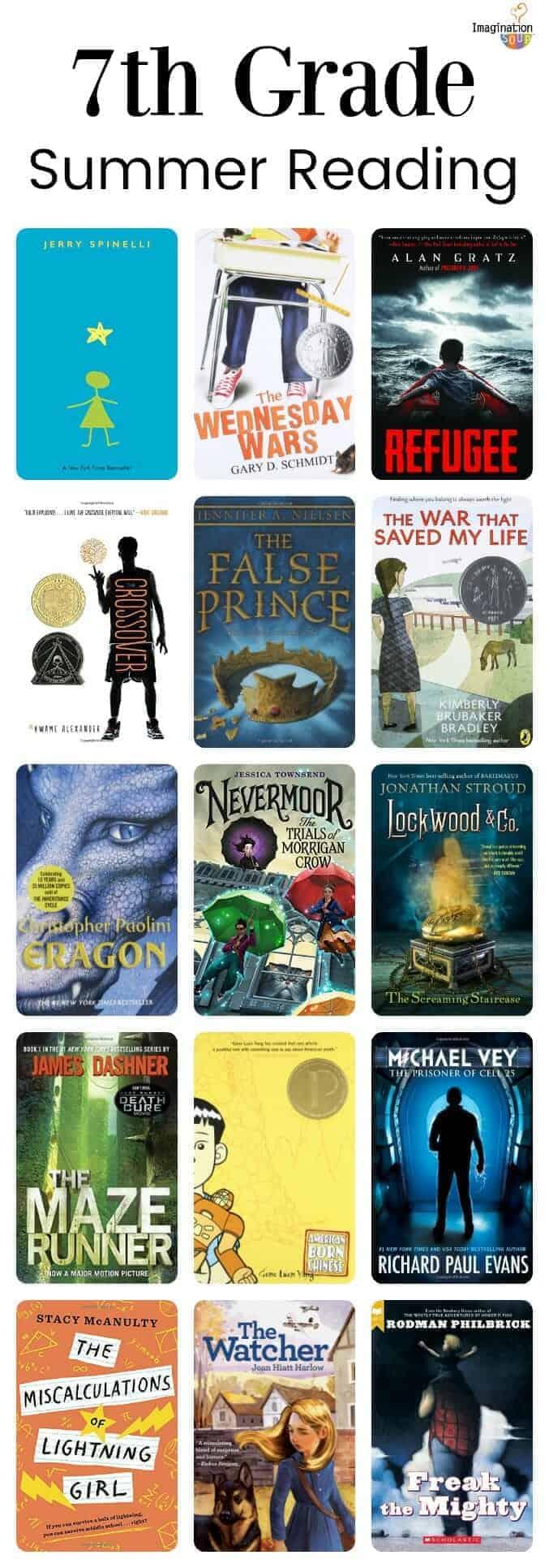 7th grade summer reading list