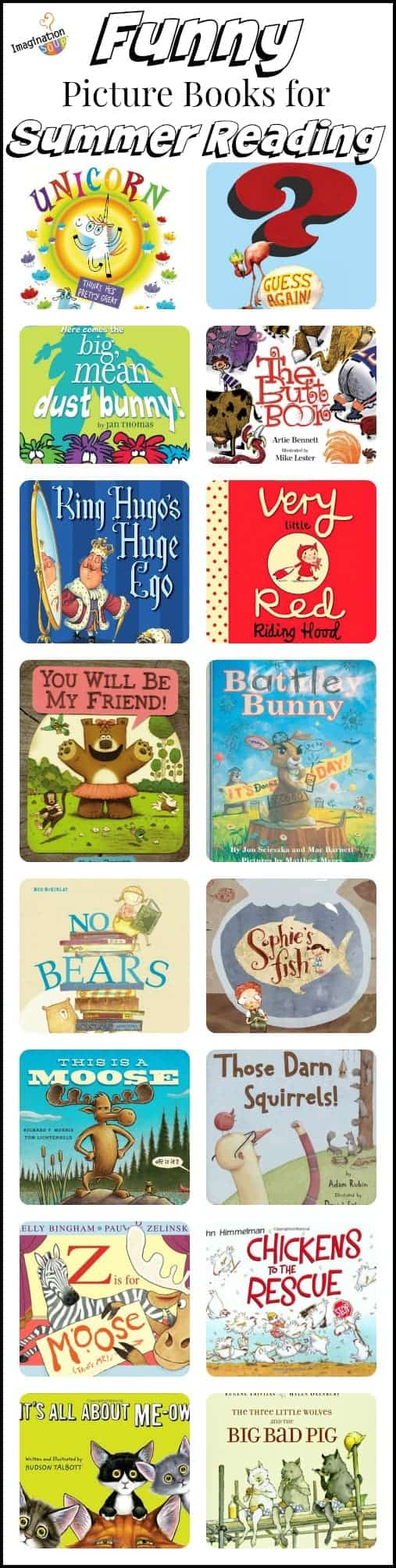 Funny picture books summer reading list