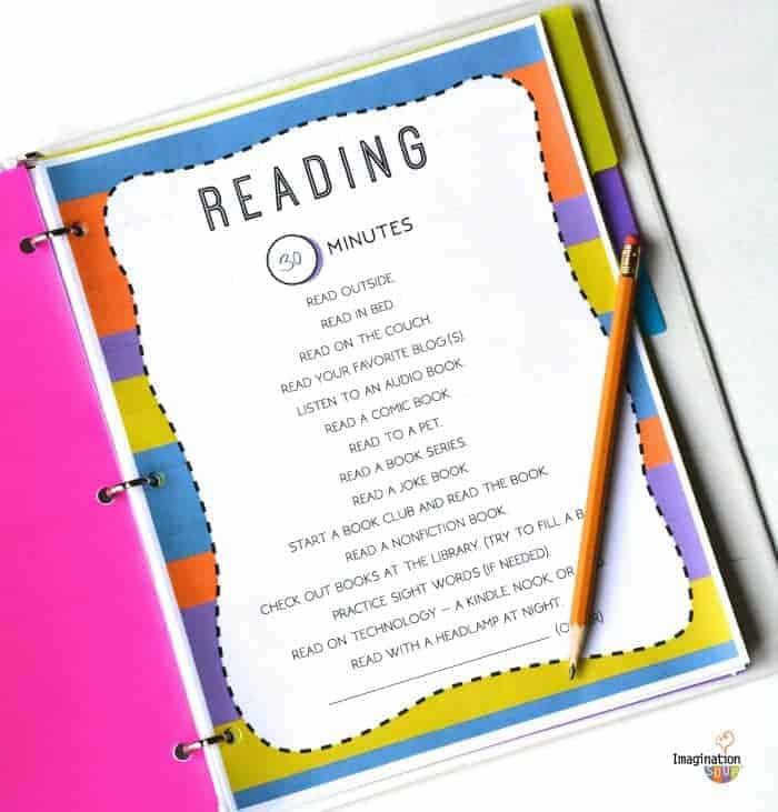 Reading - Summer Printable for Kids