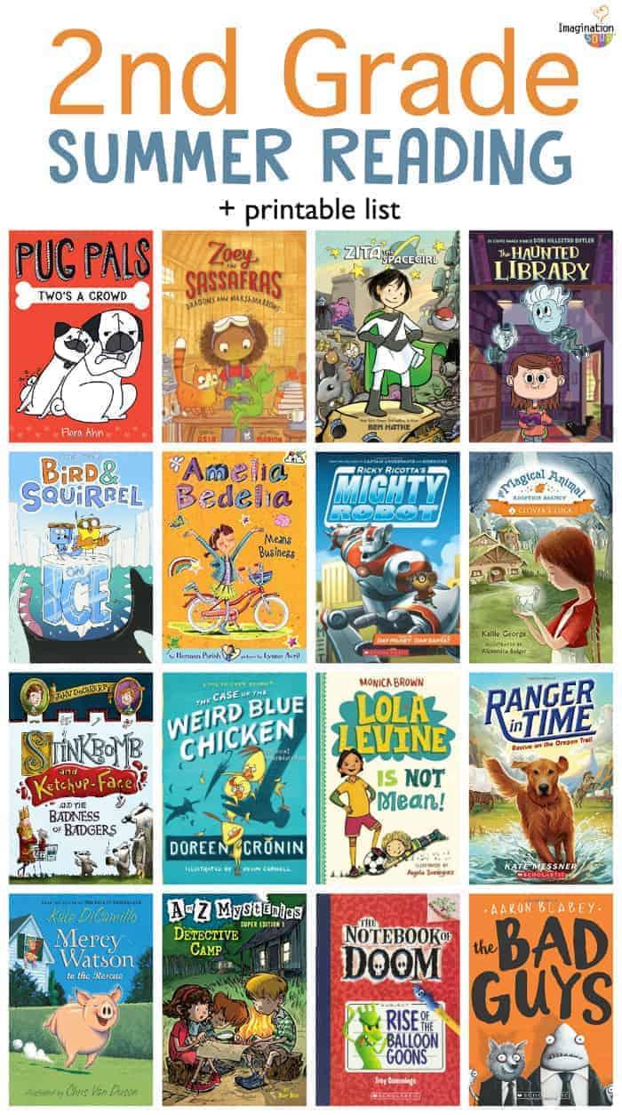 2nd grade summer reading book list for kids (plus printable) 2019