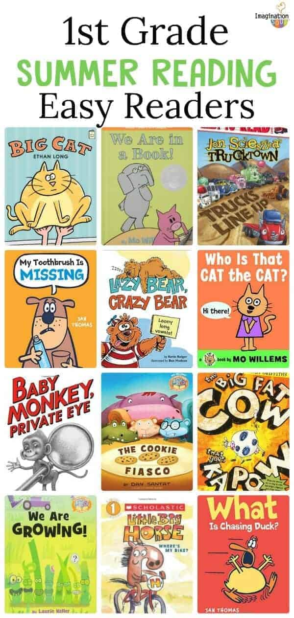 summer reading list for kids who are entering 1st grade (easy / beginning reader books)