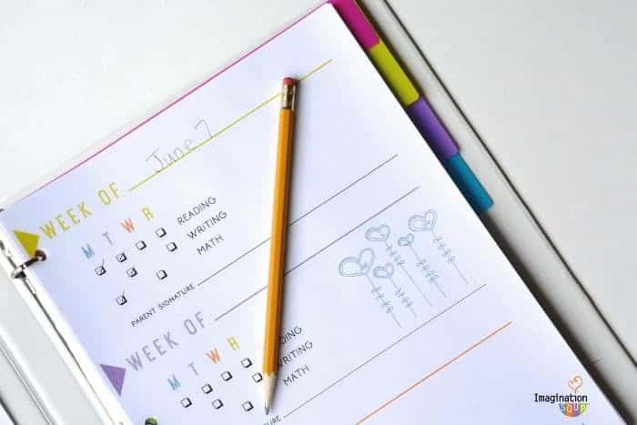 brain camp weekly schedule - Summer Printable for Kids