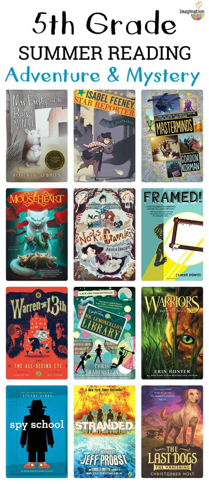 fifth grade summer reading books with - adventure and mystery