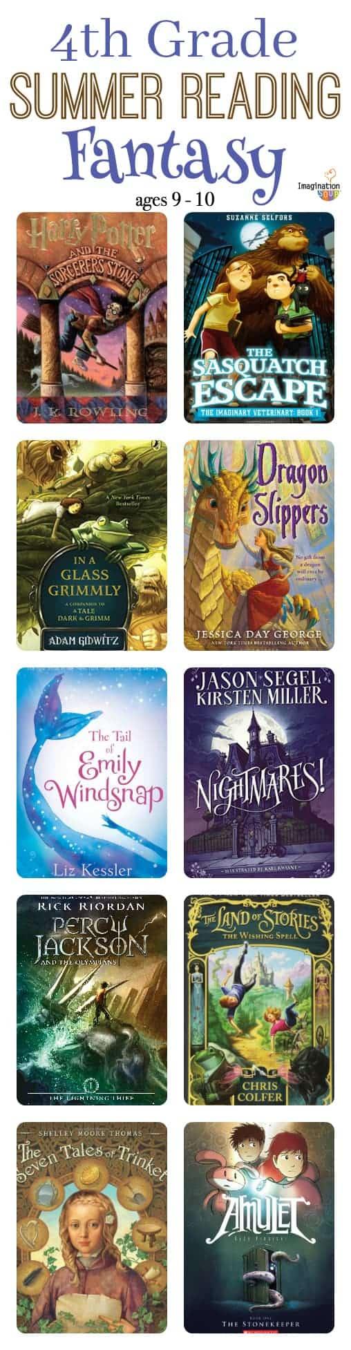 fourth grade summer reading list -- fantasy book choices