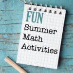 Summer Math Activities for Kids