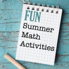math activities and ideas for summer vacation elementary age kids