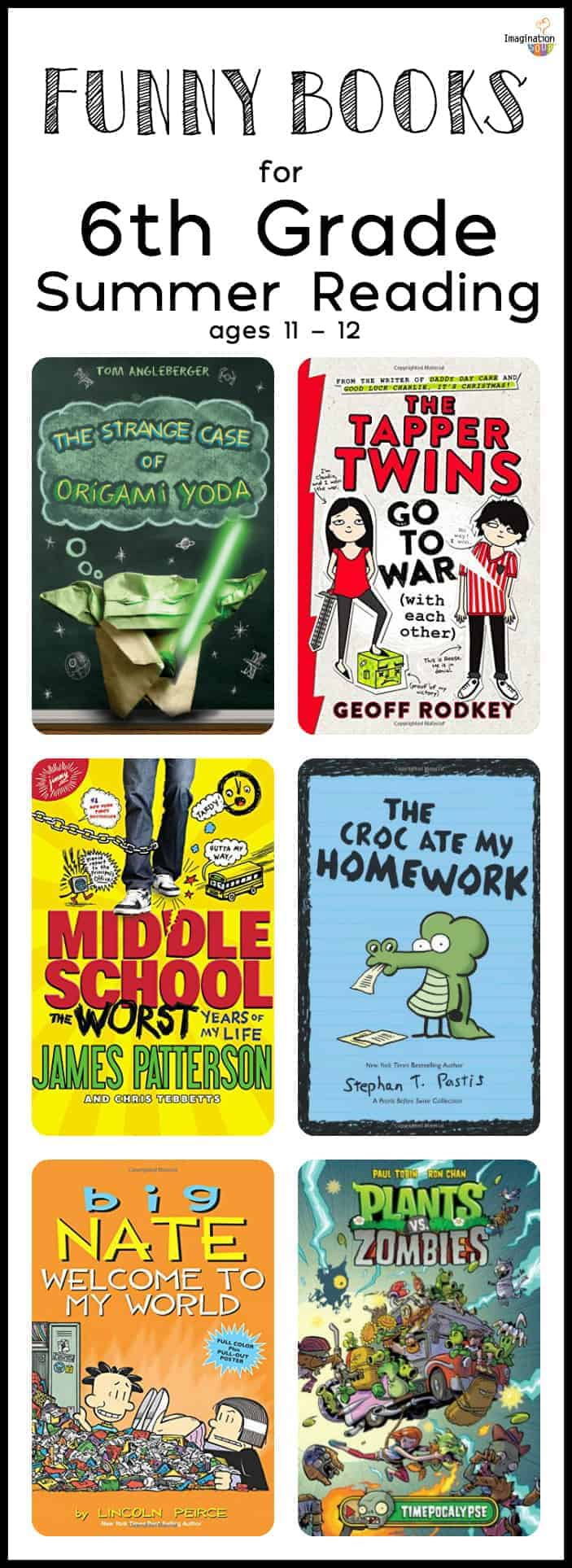 6th Grade Summer Reading List (ages 11 - 12)