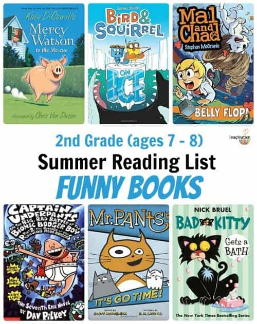 Second 2nd grade summer reading book list (ages 7 - 8)