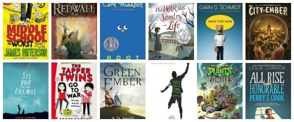 6th Grade Summer Reading List (ages 11 – 12)