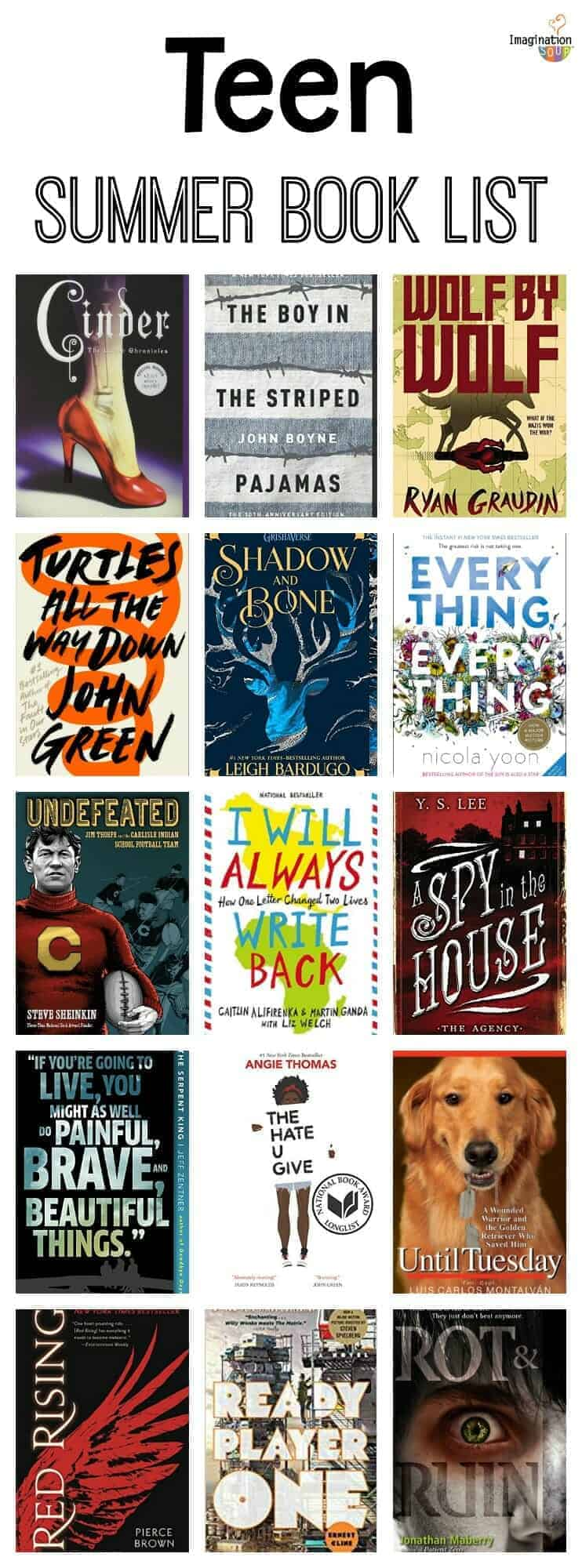 summer reading book list for teens 8th grade and High School