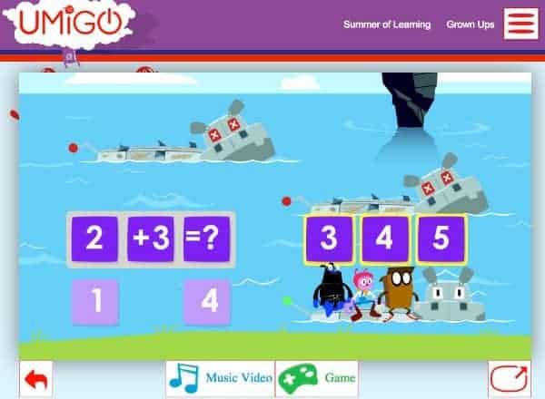 UMIGO Free Math Website