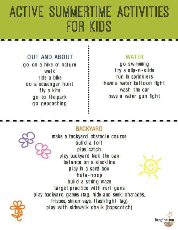 Fun Active Summer Activities for Kids – Fun Worksheets for Kids