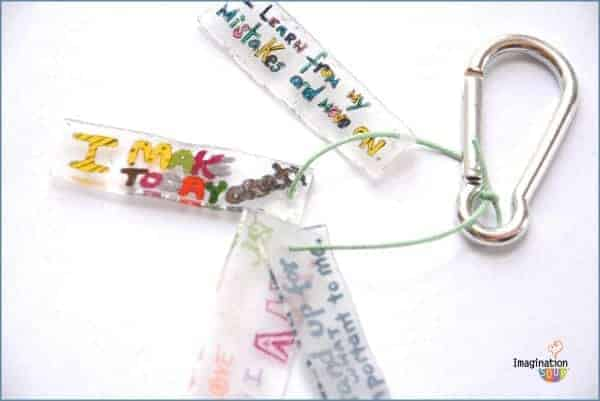 Affirmation bracelet or keychain