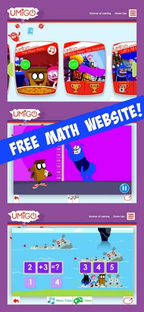 UMIGO Free Math Website | Imagination Soup