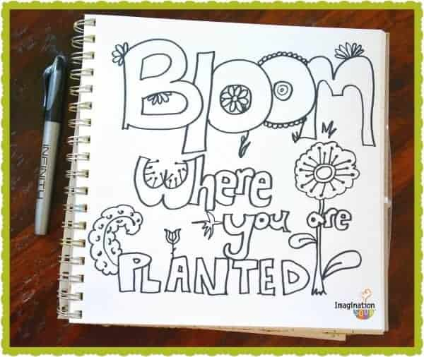 make your own coloring book page
