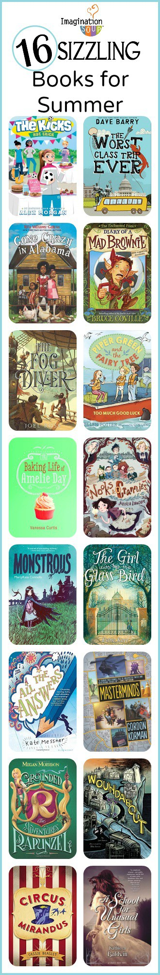 16 new chapter books plus reviews for summer reading