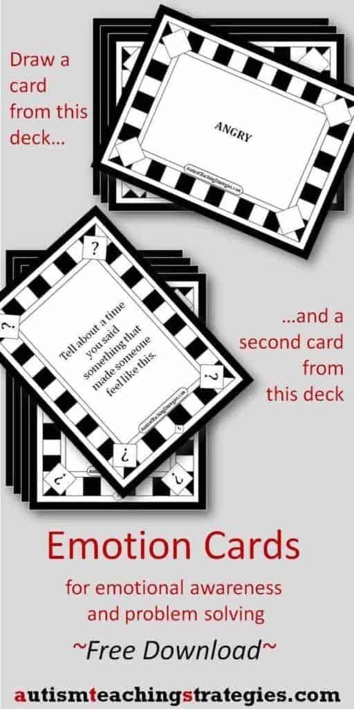 Emotion Cards from Autism Teaching Strategies