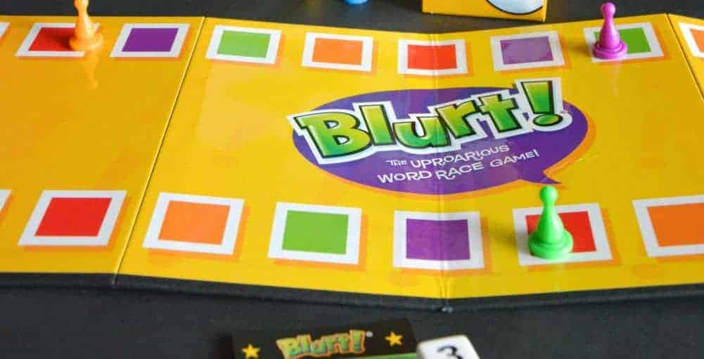 review of Blurt! the uproarious word race game