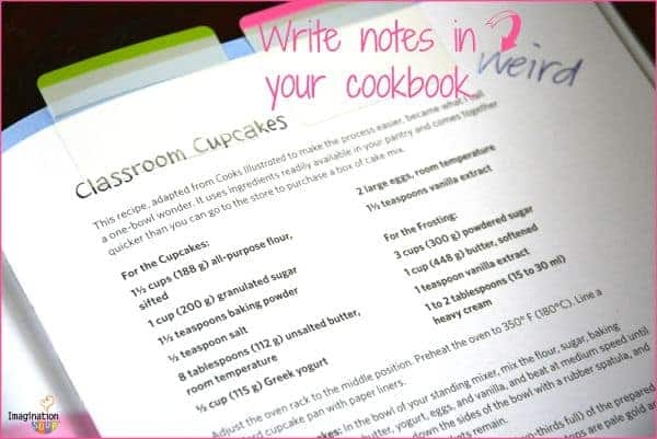 write notes in your cookbooks