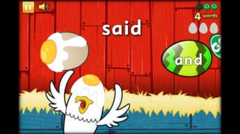 Reading Eggy sight word reading apps for kids