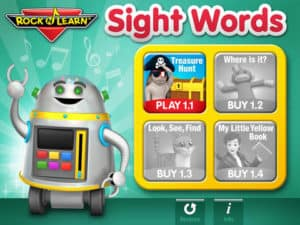 Rock n Learn Sight Words sight word reading apps for kids