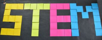 STEM study organization with Post-it Notes, Flags, and Tabs