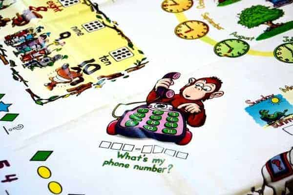 Table Top learning tablecloth