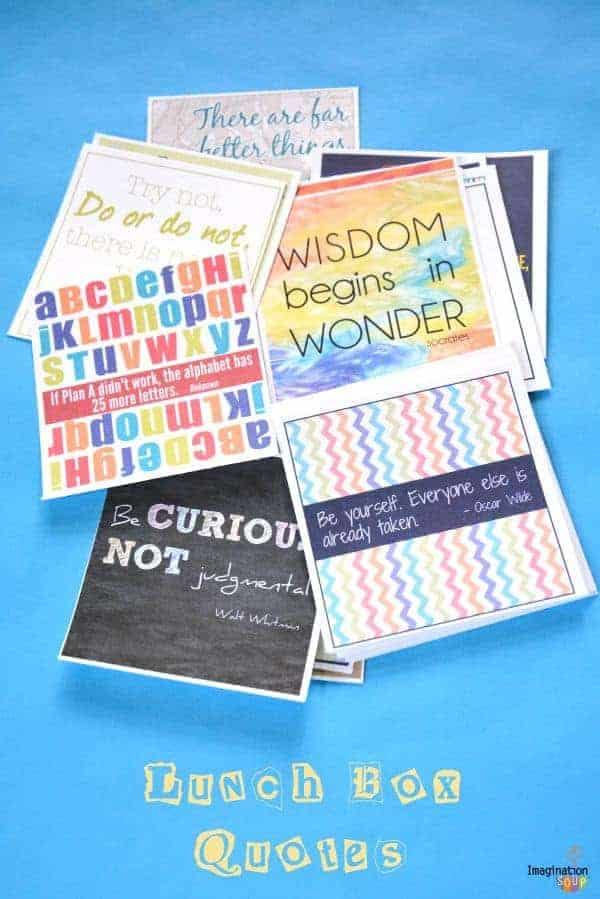 free printable lunchbox quotes for kids for back to school