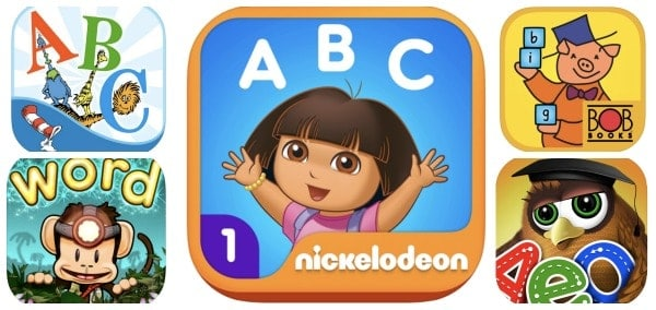 reading apps for kids alphabet sight words phonics