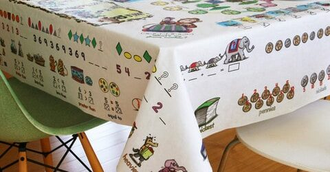 Table Time Learning Tablecloth