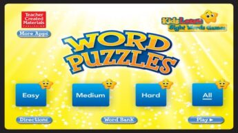 word puzzle games sight word reading apps for kids